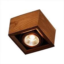 wood square led spot light 5w wireless