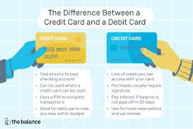 credit card and a debit card