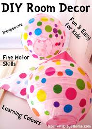 Learn With Play At Home Diy Kids Room Decor Spotty Lanterns