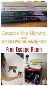 Problem Solving Practice For Kids With A Free Escape The Library Book Themed Escape Room Perfect For Escape Room Puzzles Escape Room For Kids Escape Room Game
