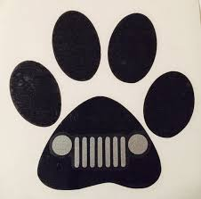 Jeep Decaldog Paw Decal Jeep Grill Dog Vinyl Decal Etsy