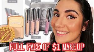 wearing dollar makeup for