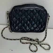 quilted leather gold chain strap bag