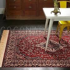 ankara persian red thin art silk floor