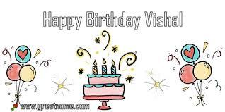 happy birthday vishal cake balloon
