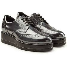 hogan patent leather platform brogues