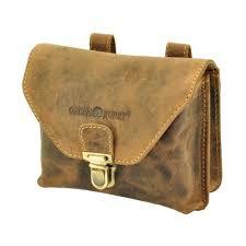 belt bag of vegetal tanned leather