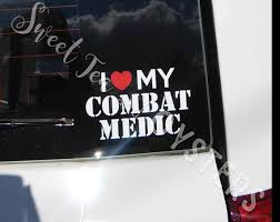 I Love My Combat Medic Decal Choose Any Mos For Cars Etsy