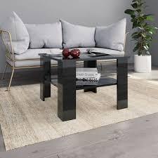 coffee table high gloss black 60x60x42