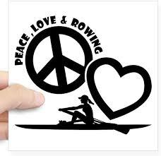 Amazon Com Cafepress Peace Love Rowing Square Sticker 3 X 3 Square Bumper Sticker Car Decal 3 X3 Small Or 5 X5 Large Home Kitchen