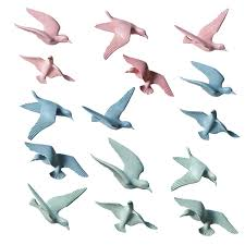 3d Resin Hanging Flying Seagull Wall Plaques Animal Sculpture Wall Art Murals For Home Living Room Wall Stickers Aliexpress