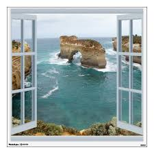 Window View Ocean Wall Decal Zazzle Com