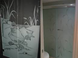 glass shower doors etched designs