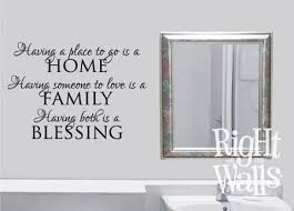 Home Family Blessing Wall Decal Family Wall Quote Family Vinyl Wall Decals And Sayings