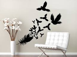 Wall Decal Feather Doves Birds Vinyl Sticker Decals Home Decor Etsy