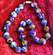 murano millifiori glass necklace