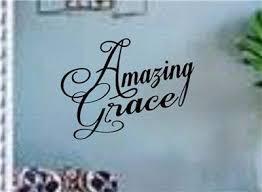 Amazing Grace Wall Art Vinyl Decals Car Window Jesus Christ God Bible New Ebay