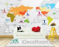 Maps Wall Decals Idecoroom