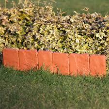 4 X Lengths Stone Terracotta Plastic Lawn Edging Mini Fancy Fencing 1 98mtr Mtr 5034537017670 Ebay