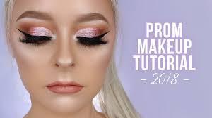 pink glam prom makeup tutorial 2018