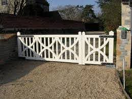 Pedestrian Gate And Car Gate In One Driveway Gate Estate Gates Outdoor Gate