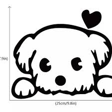 Vova Cute Puppy Car Sticker Creative Cartoon Dog Vinyl Car Decal For Car Body Decoration Removable Waterproof