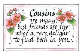 best friend cousin quotes quotesgram