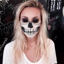 half skull face makeup tutorial