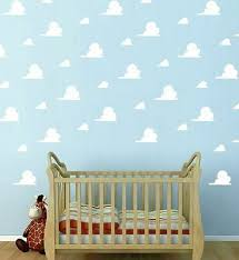 Toy Story Clouds Andy S Room Cloud Wall Stickers Removbale Kids Room Sticker Ebay