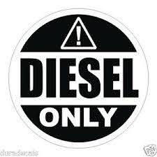 2 Inch Diesel Only Vinyl Decal Sticker Label Fuel Door Label Truck Can Tank Ebay
