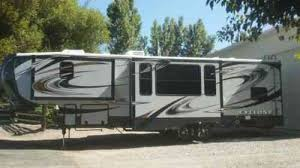 cyclone 5th wheel toy hauler with large