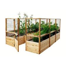8 ft x 8 ft garden in a box with deer