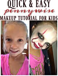 it pennywise makeup tutorial for kids