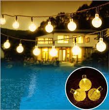 crystal ball solar powered fairy lights