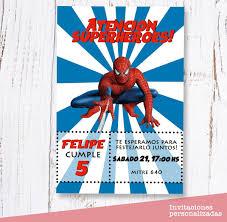 Invitaciones Spiderman Cumpleanos Digital 125 00 En Mercado