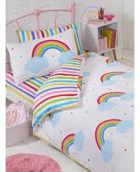 rainbow sky single toddler duvet cover