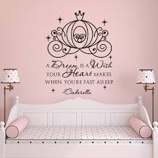 Princess Wall Art Decal Quote A Dream Is A Wish Your Heart Etsy Disney Room Decor Kids Wall Decals Wall Decals For Bedroom