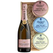 moet chandon rose 75cl and charbonnel
