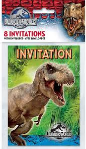 Party Invitaciones Unicos Jurassic World Party Paquete De 8