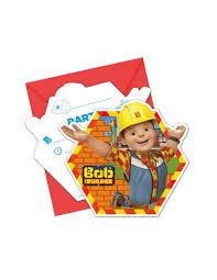 Invitaciones Bob El Constructor Con Sobre Para Cumpleanos