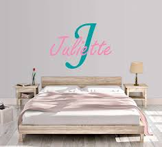 Amazon Com Girl S Custom Name And Initial Wall Decal Choose Your Own Name Initial And Letter Styles Multiple Sizes Wall Sticker Decor Girl S Nursery Personalized Custom Name Wall Decals Vinyl Decor Handmade