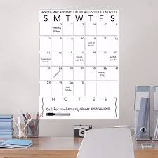 Wpe3236 White Dry Erase Calendar Decal With Notes By Wallpops