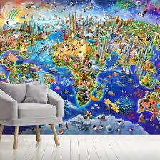 crazy world wall mural wallsauce uk