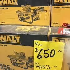 Dewalt 254mm 1850w Table Saw 650 Was 853 Bunnings Ozbargain