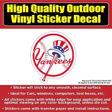 New York Yankees Baseball Vinyl Car Window Laptop Bumper Sticker Decal Colorado Sticker