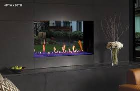 davinci see thru linear gas fireplace