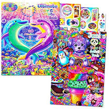 Lisa Frank Stickers And Coloring Book Super Set Bundle Includes 2 Books Over 30 Stickers 2 Posters And 100 Pages Of Coloring Fun Featuring Lisa Frank Walmart Com Walmart Com