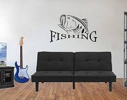 Bass Wall Decal Etsy