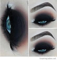 black eye makeup for blue eyes