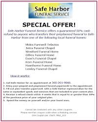 special offer what county funeral